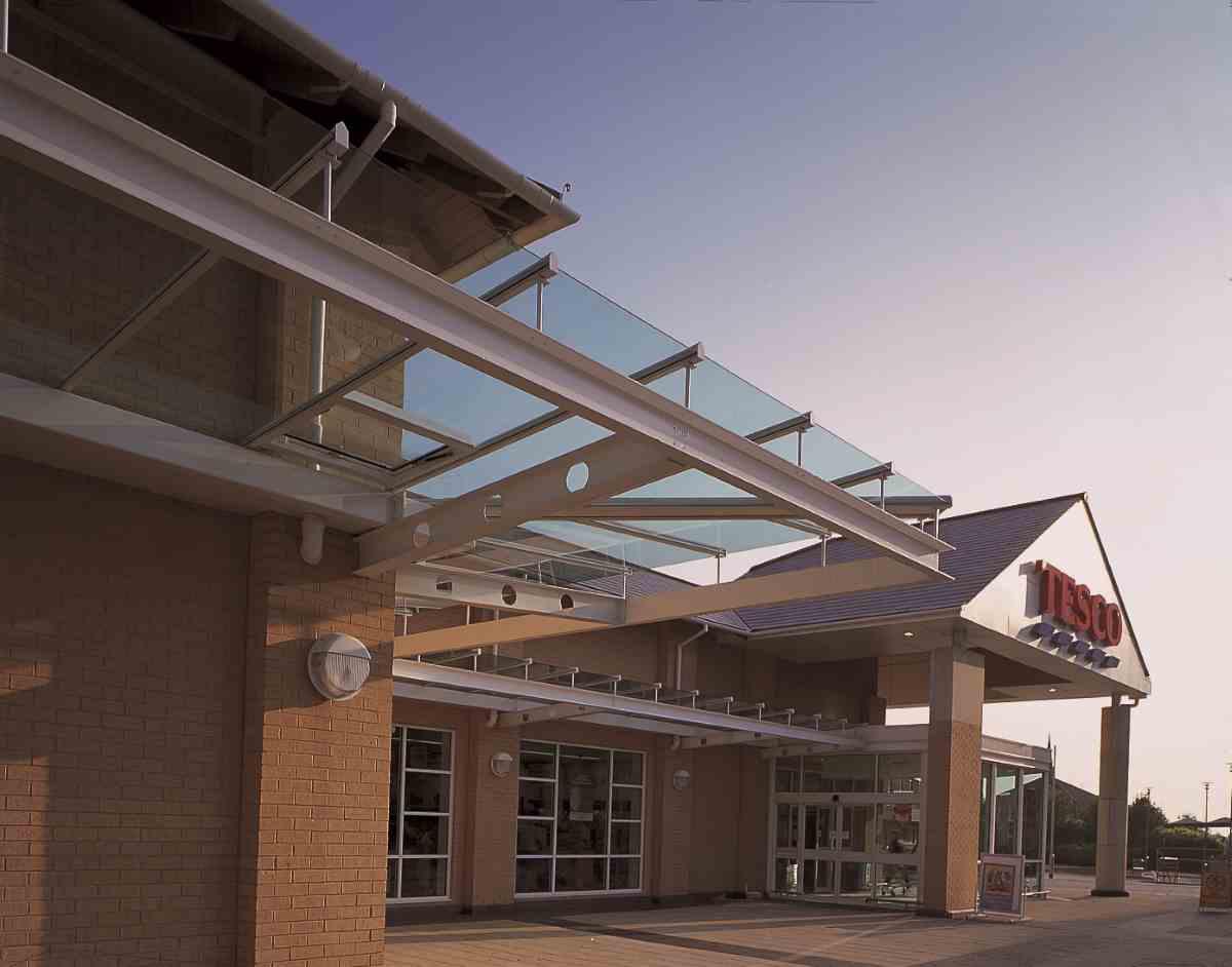 Tesco exterior glazing system