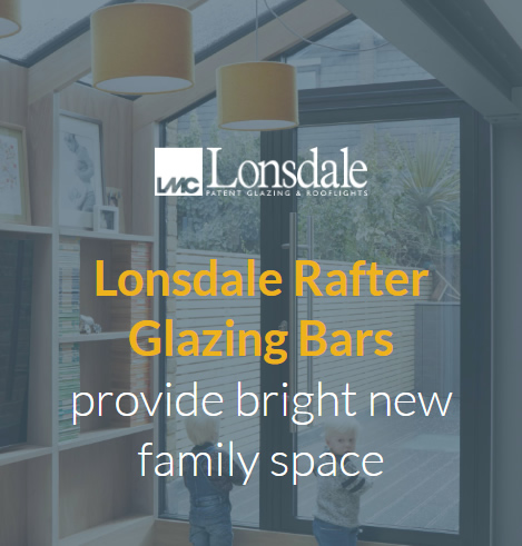 Lonsdale rafter glazing bars graphic